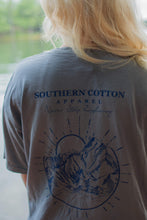Southern Cotton Apparel Never Stop Exploring Tee in Gray
