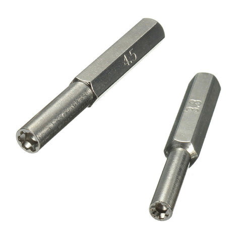 3.8mm + 4.5mm Gamebit Power Bits For Power Drills / Power Screwdrivers - (Used For Opening SNES/NES/N64/Genesis Game Cartridges And Consoles)