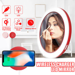 Mabaoha LM09 Mini Rechargeable LED Makeup Mirror +Qi Wilress Charger