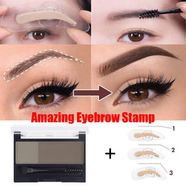 Adjustable Perfect Eyebrow Stamp and eyebrow shadow Palette