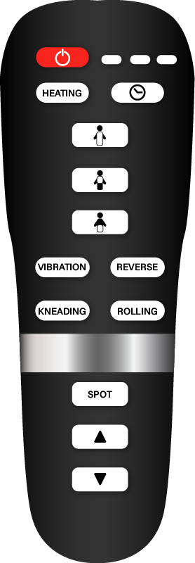 back massager with remote control