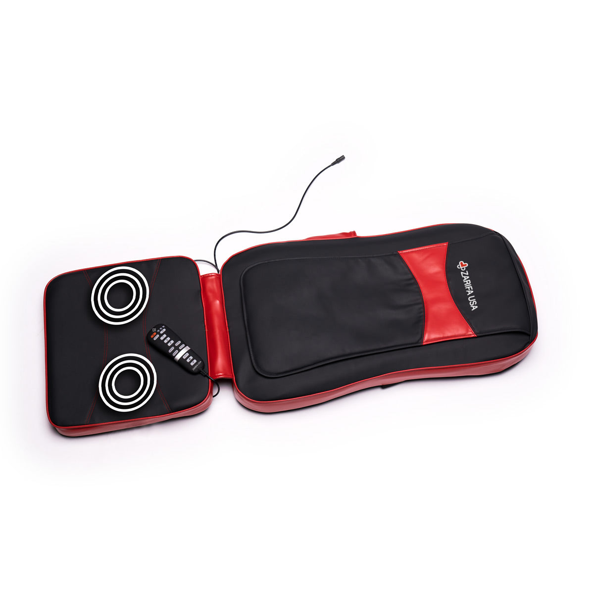 back massager with heat & vibration functions