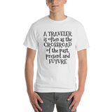 A traveler is often as the crossroad of the past, present and future - Sound Principles