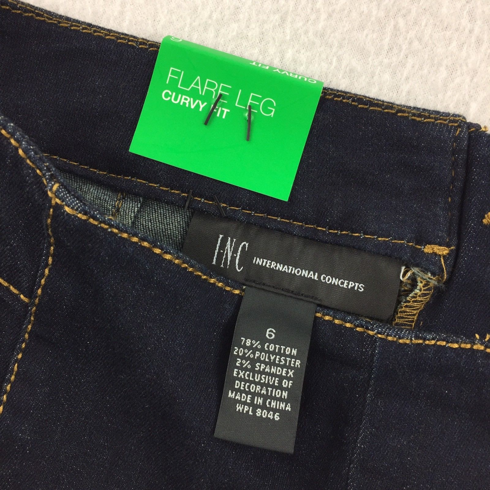... INC Flare Leg Curvy Fit Stretch Jeans Women s Dark Wash Size 6 NWT 40-  ... 13b2066157