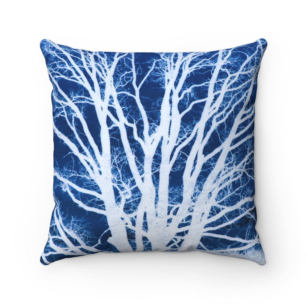 Deeply Rooted Tree Square Pillow