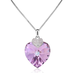 Amethyst Swarovski Crystal Necklace - Bonny Planet