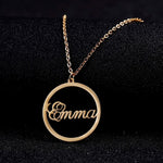 Personalized Round Pendant Necklace
