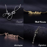 4 Style Custom Name Necklaces - Bonny Planet