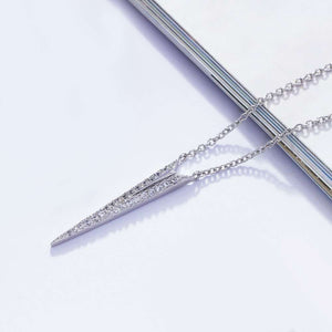 Arrow Pendant Zircon Stones Necklace