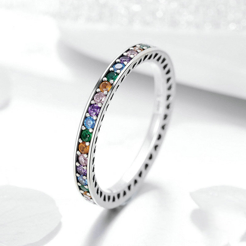 Authentic Colorful Stone Silver Ring - Bonny Planet