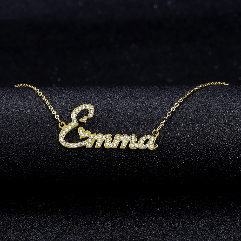 Personalized Crystal Name Necklace - Bonny Planet