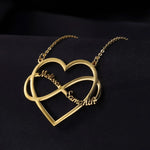 Couple Name Infinity Heart Necklace