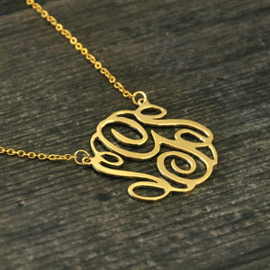 Personalized Initials Pendant Necklace - Bonny Planet