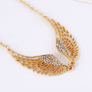 Angel Wings Gold Silver Necklace - Bonny Planet