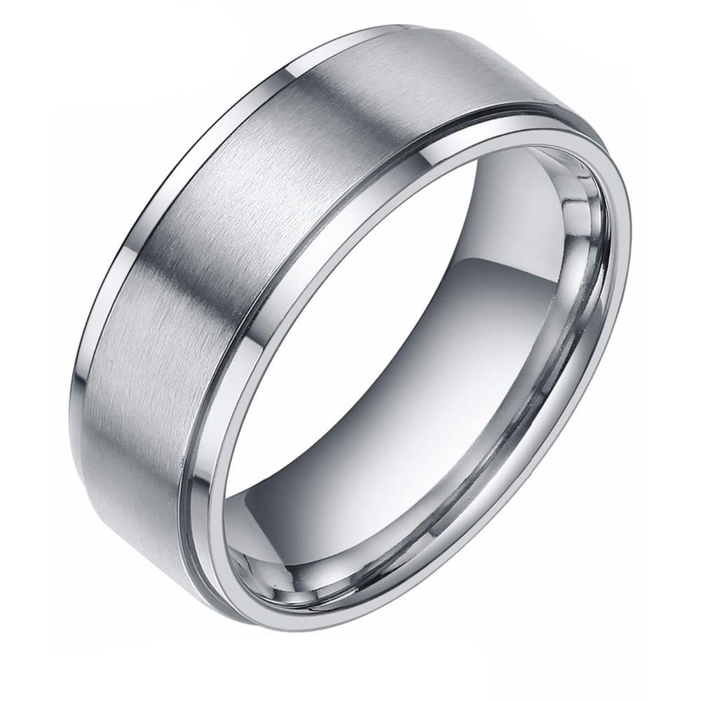 Silver Brushed Tungsten Carbide Ring - Bonny Planet
