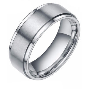 Silver Brushed Tungsten Carbide Ring