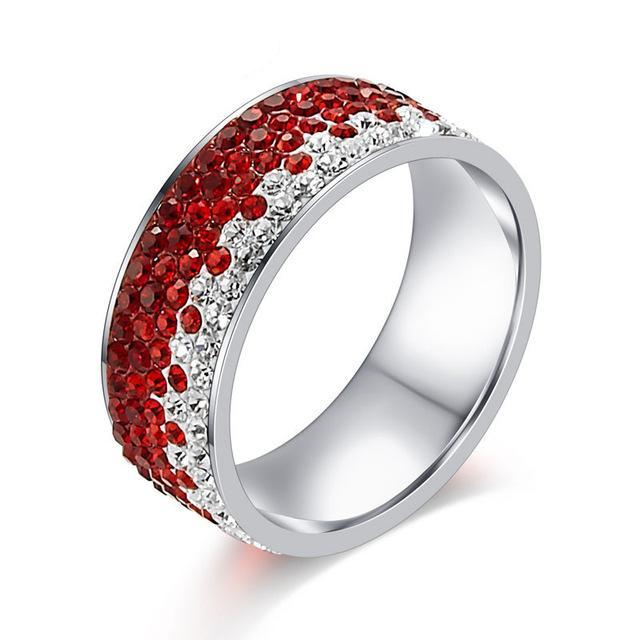 Cubic Zirconia Crystal Ring - Bonny Planet