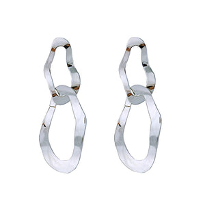 Double Waved Drop Earrings - Bonny Planet