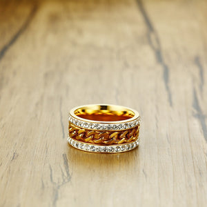 Gold Color Spinner Ring