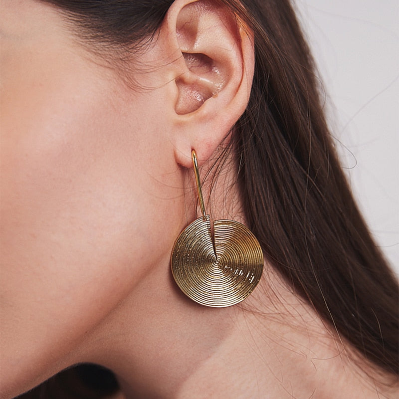 Open Thread Disc Earrings - Bonny Planet