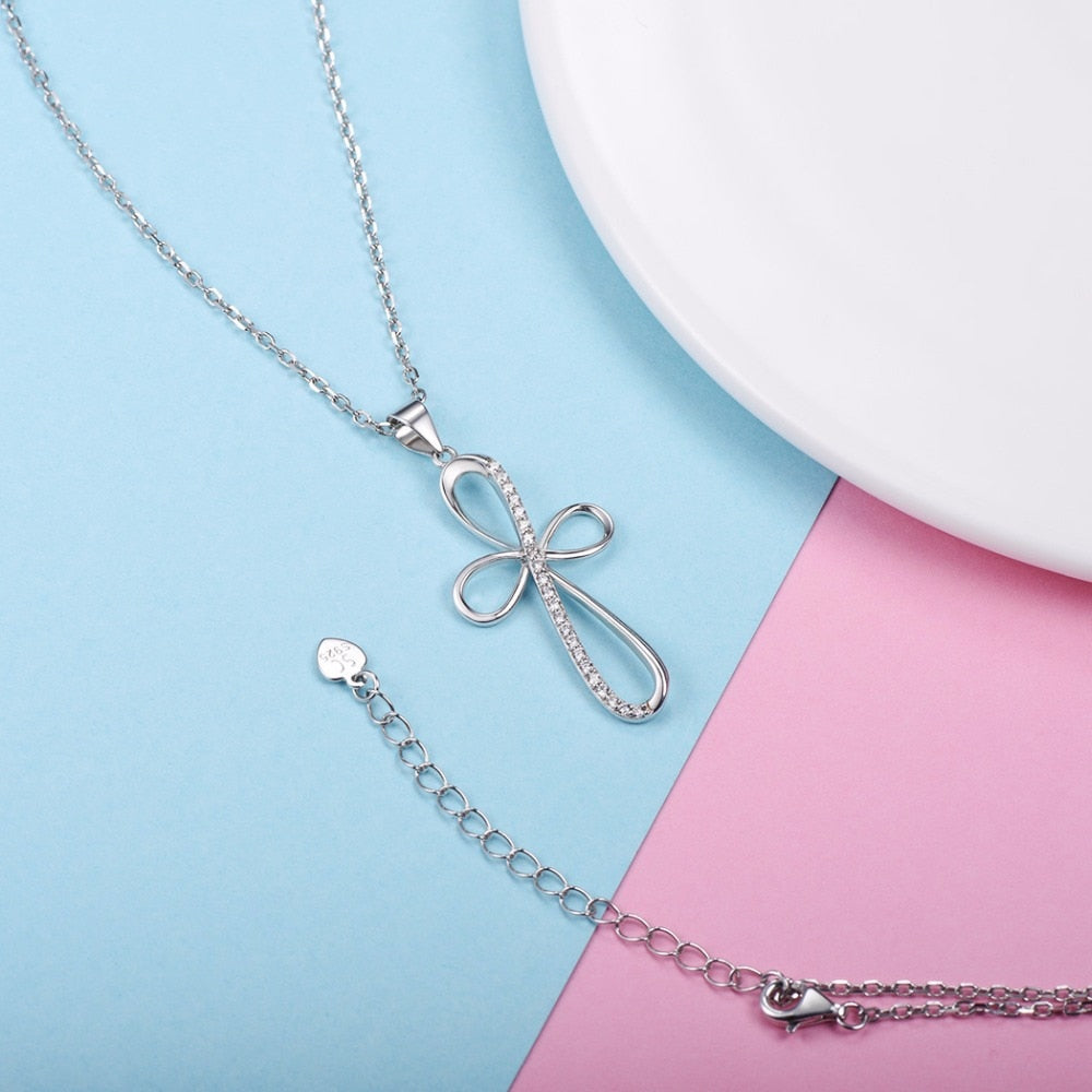 Dainty Cross Silver Necklace