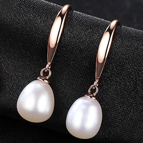 Pearl Water Drop Silver Earrings - Bonny Planet