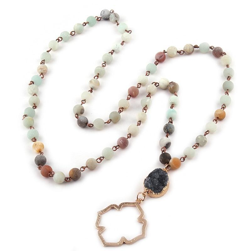 Amazonite Stone Beads Necklace - Bonny Planet
