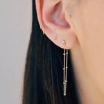 Tiny Beaded Chain Earrings - Bonny Planet