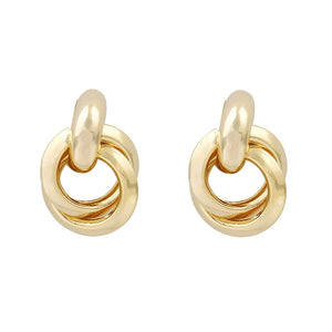Knotted Circle Twisted Earrings - Bonny Planet