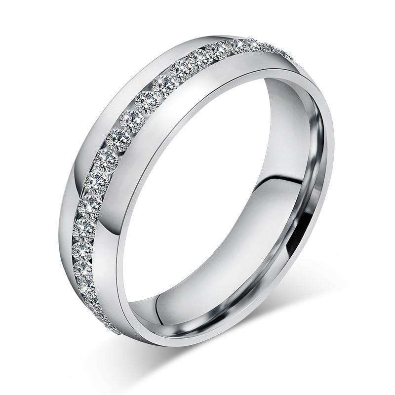 Crystal Inlay Eternity Ring