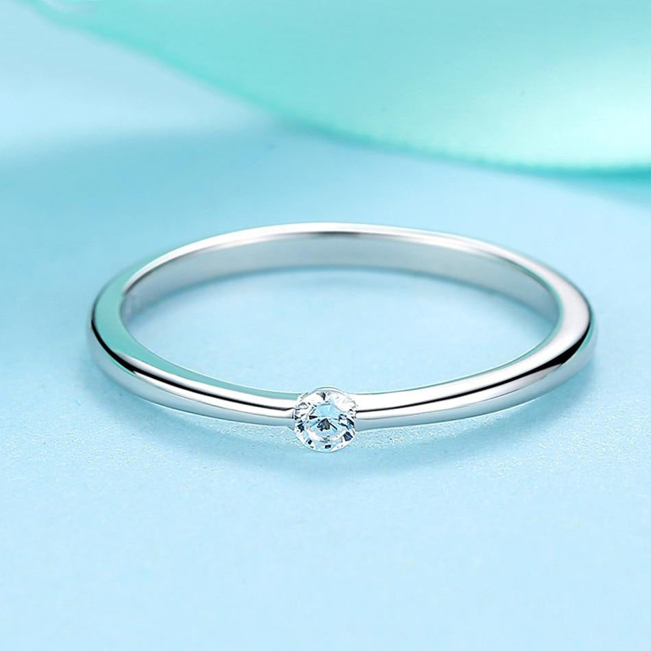 Authentic Round Crystal Silver Ring - Bonny Planet
