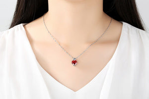 Swarovski Crystal Heart Necklace - Bonny Planet