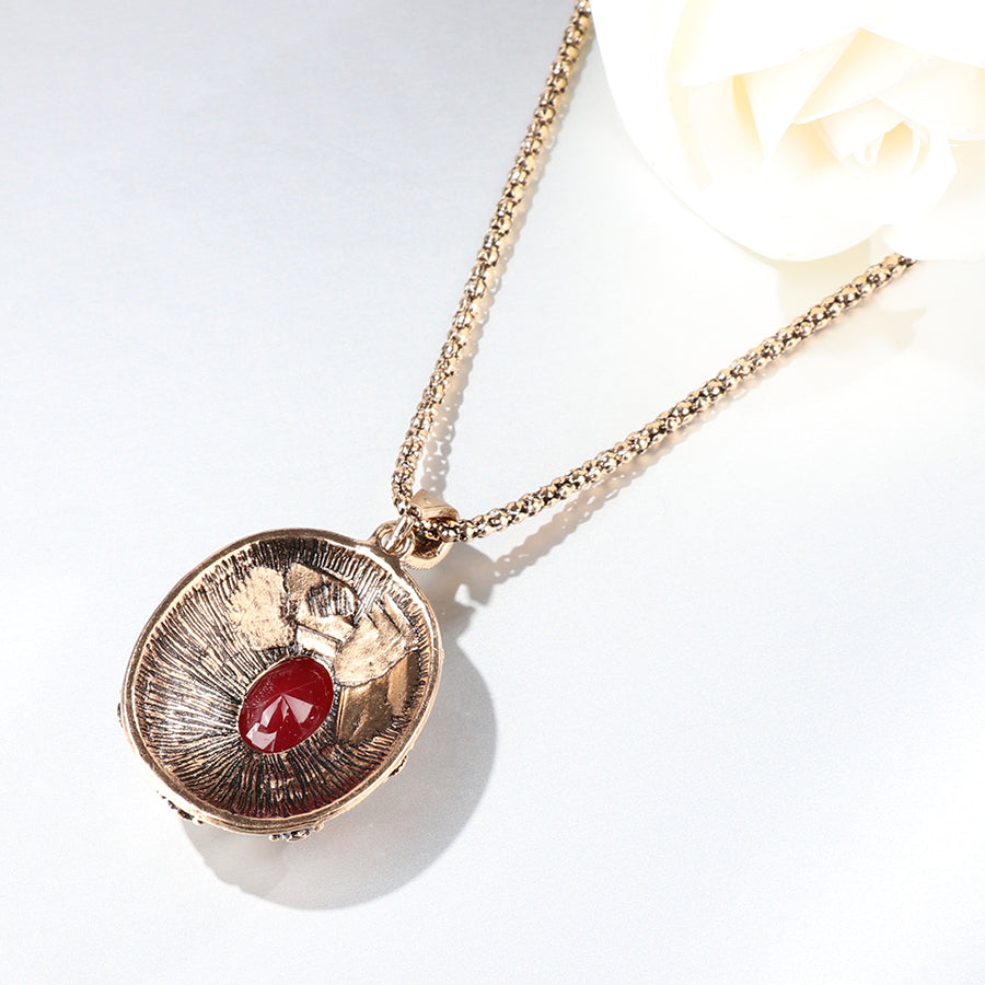 Antique Red Stone Drop Necklace - Bonny Planet