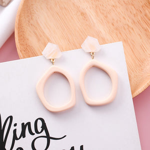 Geometric Trendy Fashion Earrings - Bonny Planet