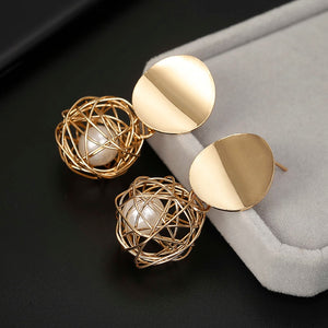 Geometric Weave Ball Earrings - Bonny Planet