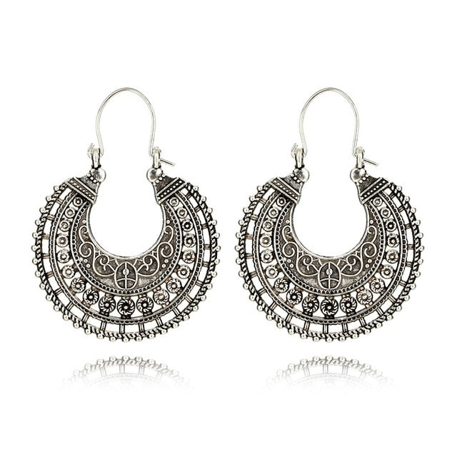 Big Hollow Round Drop Earrings