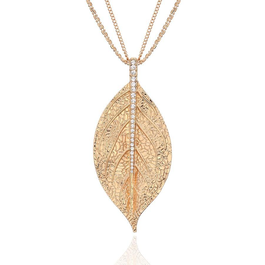 Dried Leaf Pendant Necklace