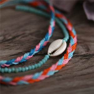 3 Pcs Shell Woven Bracelet Set - Bonny Planet