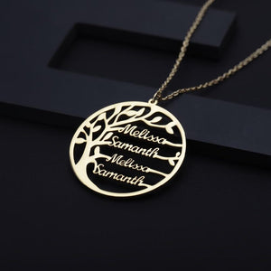 Family Tree Silver Necklace - Bonny Planet