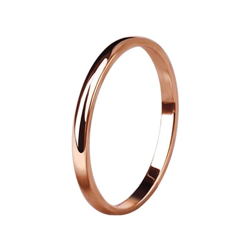 Authentic Smooth Minimalist Ring