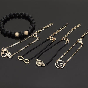 5 Pcs Multilayer Bracelet Set - Bonny Planet