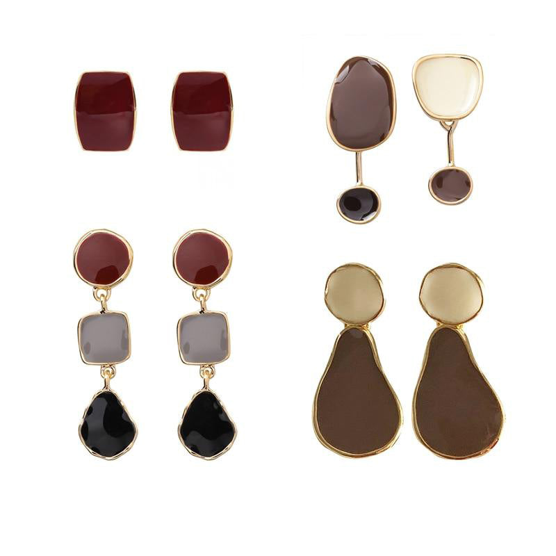 Retro Asymmetry Drop Earrings - Bonny Planet