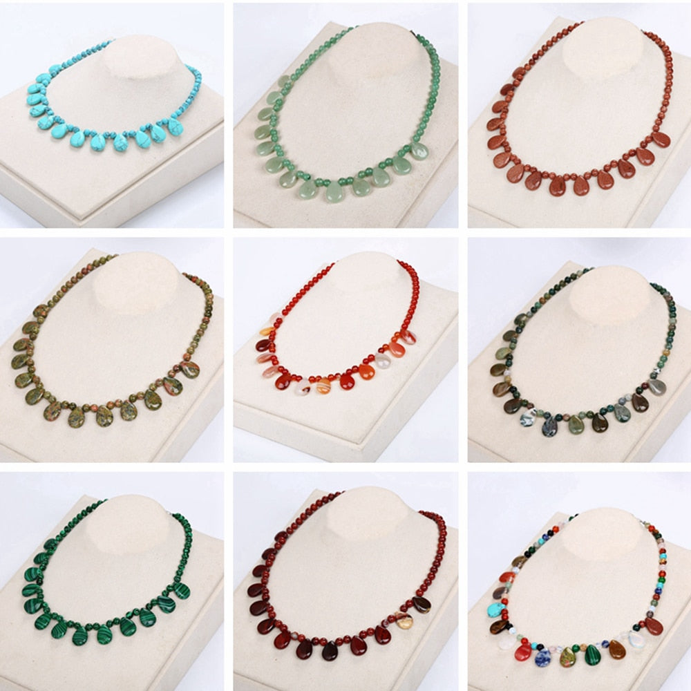 Natural Stones Collar Necklace
