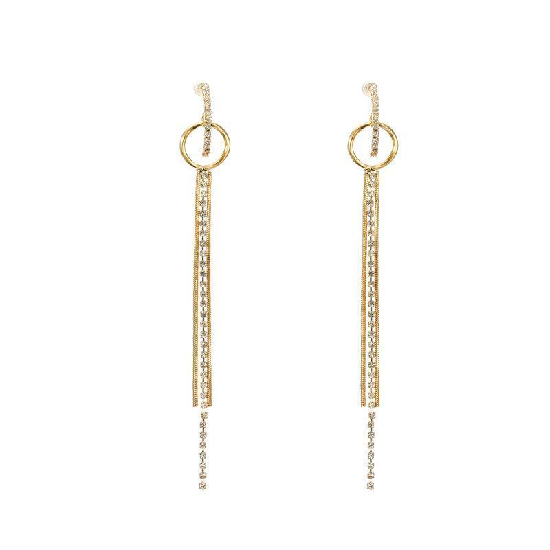 Crystal Tassel Long Earrings - Bonny Planet