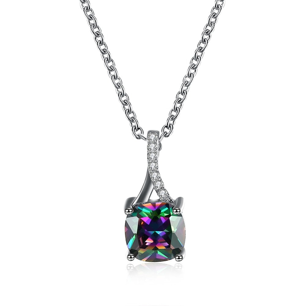 Vibrant Crystal Pendant Necklace