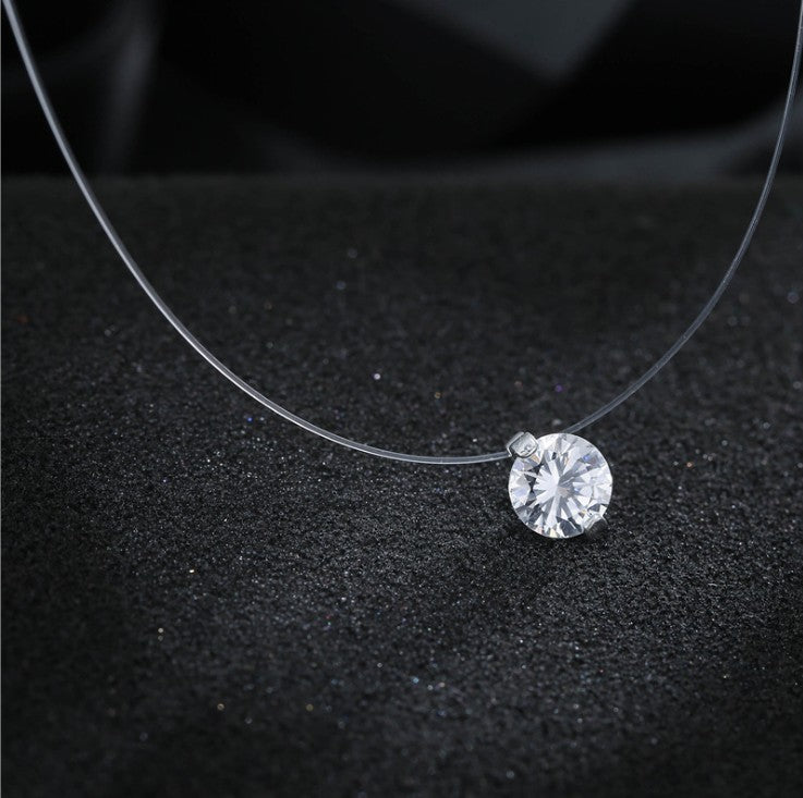 Solitaire Crystal Illusion Necklace - Bonny Planet
