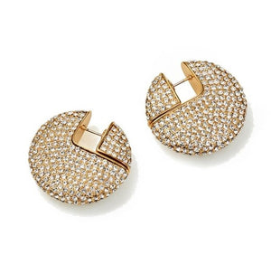 Full Crystal Gold Earrings - Bonny Planet