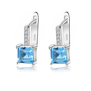 Sky Blue Topaz Silver Earrings - Bonny Planet