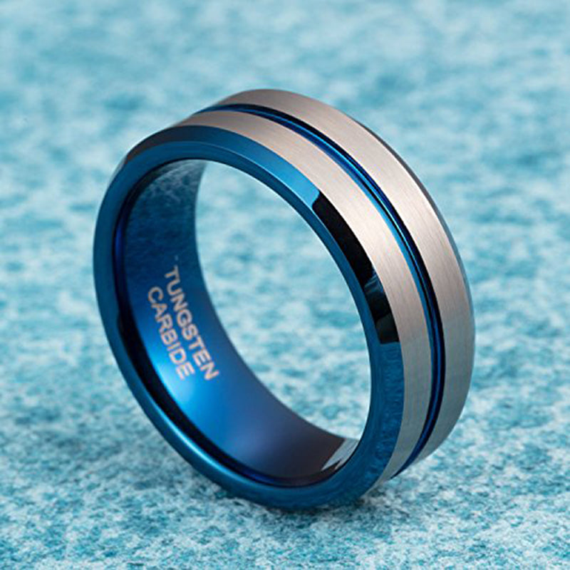 Two Tone Tungsten Carbide Ring - Bonny Planet