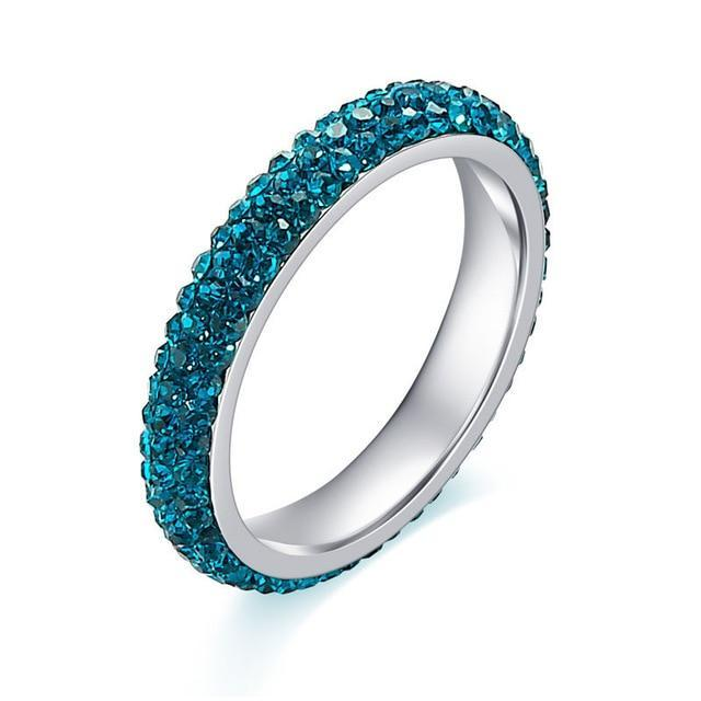 Authentic Blue Crystal Ring
